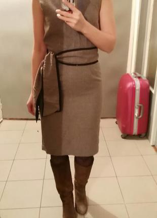 Платье миди, в составе шерсть, zara