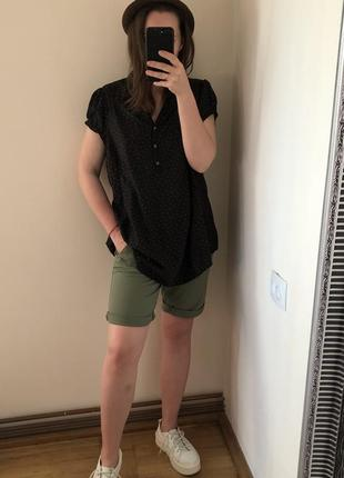 Рубашка блуза в горох
