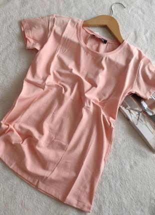 Персикова футболка однотонна базова