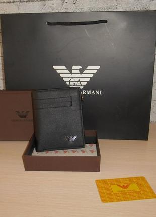 Мужской кошелек, портмоне, бумажник armani, кожа, италия 1772