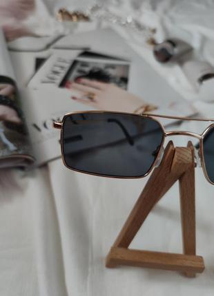 Очки окуляри стильные в стиле 90-х трендовые черные солнцезащитные новые6 фото