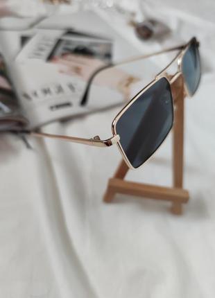 Очки окуляри стильные в стиле 90-х трендовые черные солнцезащитные новые7 фото