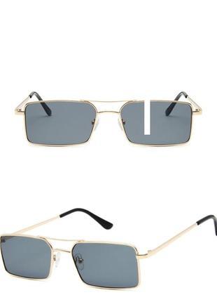 Очки окуляри стильные в стиле 90-х трендовые черные солнцезащитные новые8 фото