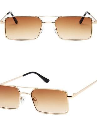 Очки окуляри стильные в стиле 90-х трендовые карамельные новые8 фото