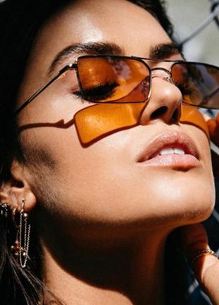 Очки окуляри стильные в стиле 90-х трендовые карамельные новые