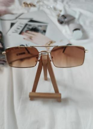 Очки окуляри стильные в стиле 90-х трендовые карамельные новые5 фото