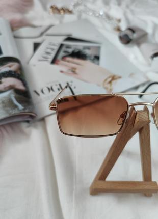 Очки окуляри стильные в стиле 90-х трендовые карамельные новые6 фото