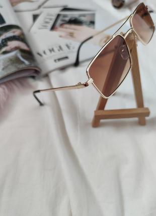 Очки окуляри стильные в стиле 90-х трендовые карамельные новые7 фото