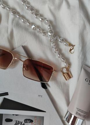 Очки окуляри стильные в стиле 90-х трендовые карамельные новые4 фото