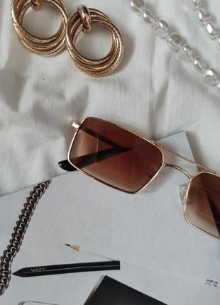 Очки окуляри стильные в стиле 90-х трендовые карамельные новые3 фото