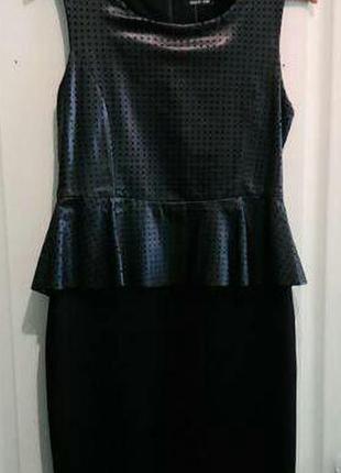 Классное платье - верх под кожу, низ стрейч
