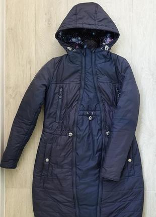 Зимнее пальто для беременных love & carry, р. xs (42)