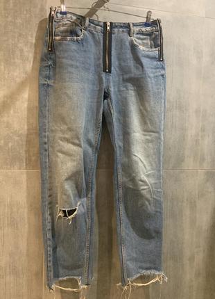 Супер модные джинсы с молниями