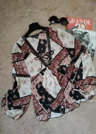 Нереальная блузка с объемными рукавами со шнуровка/блуза/кофточка