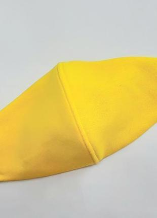 Маска защитная многоразовая трикотажная с кармашком для фильтра жёлтая