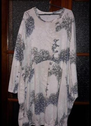Новое натуральное итальянское платье бохо оверсайз, италия коттон стрейч