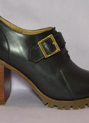 """Р39.5-40 """"zalando"""",германия, натуральная кожа! стильные брендовые ботильоны туфли"""