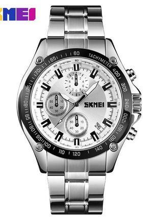 Часы skmei 1393 silver white