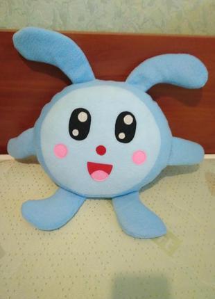 Подушка игрушка зайка