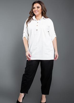 Рубашка в стиле бохо из льна с котоном