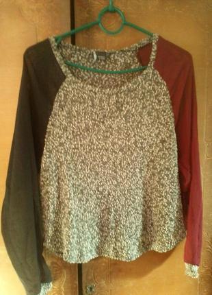 Кофта/блуза с шифоновыми рукавами