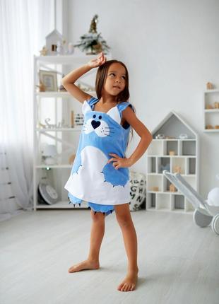 Сарафан на малышку, велюровое платье китти, детский сарафан малышке, дитяча сукня,2 фото