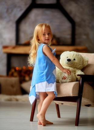 Сарафан на малышку, велюровое платье китти, детский сарафан малышке, дитяча сукня,4 фото