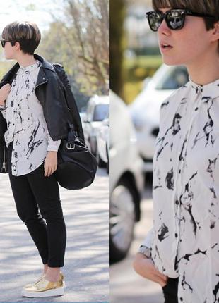 9af04b8716d Крутая мраморная рубашка от zara