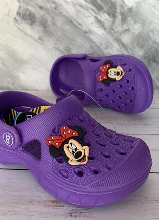 Кроксы для девочки фиолетовые