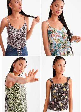Блуза топ майка вискоза женская летняя для девушки молодежная бренд c&a германия р. 34-44