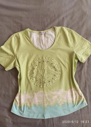 Хлопковая футболка в стиле бохо