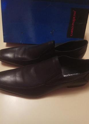 Новые полностью кожаные туфли большого размера 46