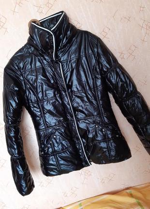 Куртка-парка с лакированным покрытием