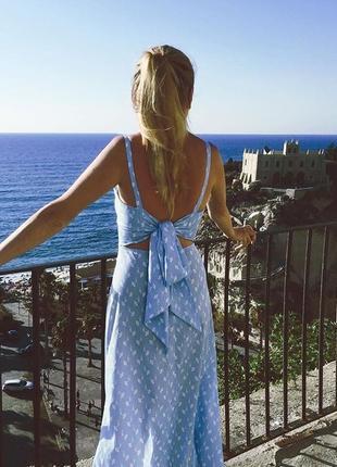 Летнее платье с открытой спиной l/ m