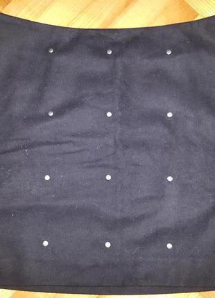 Шерстяная мини юбка от next! p.-36