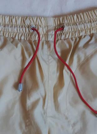 Дождевик штаны непромокаемые летние желто песочные fun board на рост 116см