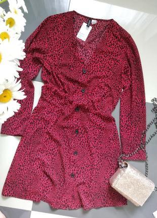 Платье гепард