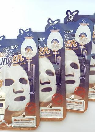 💪маска для активной регенерации эпидермиса elizavecca egf deep power ringer mask pack