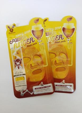 Лифтинг-маска медовая elizavecca face care honey deep power ringer mask pack