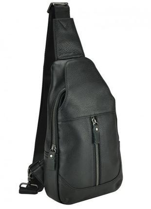 Чоловічий месенджер чорного кольору tiding bag 8436a