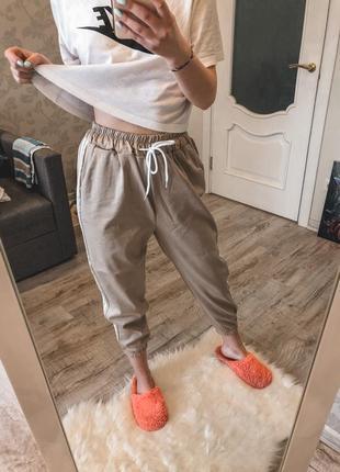 Штаны, спортивные штаны на манжетах, лёгкий летний вариант