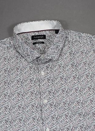 Классная приталенная рубашка в мульти-принт от marks and spencer