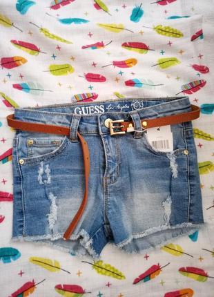 Очень классные джинсовые шорты для девочкм