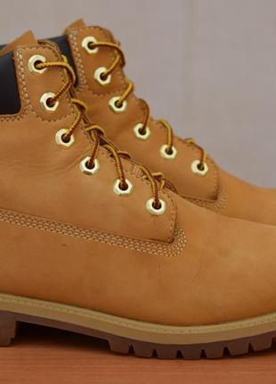 Коричневые кожаные демисезонные ботинки timberland, 38 размер. оригинал
