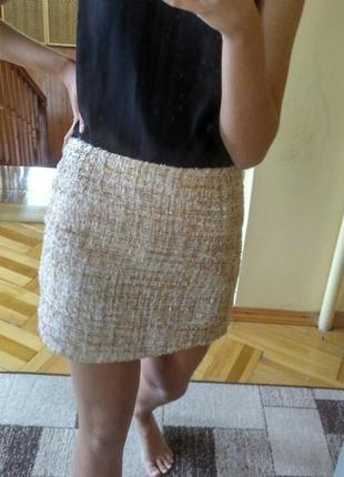 Твидовая юбка твідова спідниця твид l твід