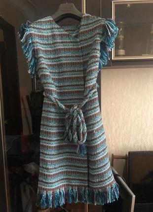 Твидовое платье кардиган chanel