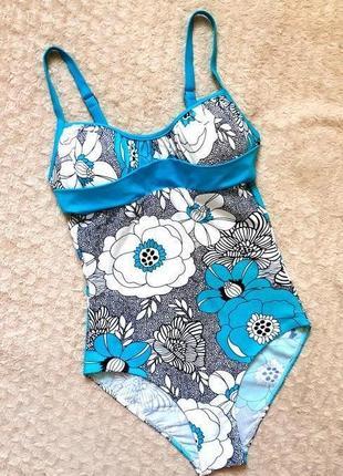 Teres seleccion яркий слитный сдельный купальник отличного качества 50-52 укр