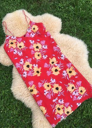 Легесеньке плаття-майка у квіти розміру xs h&m