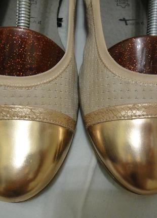 Шикарные оригинальные балетки туфли tamaris р.40-41 (26,5 cм) германия