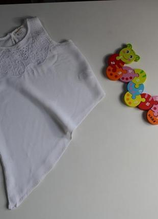 Блузка футболка косой низ